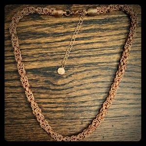 Alfani Rose Gold Byzantine Chain